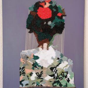 Wachten 2, beeldweefsel/tapestry Marjan van Holthe